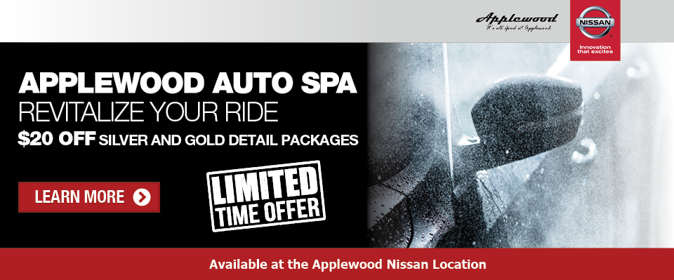 Applewood Nissan: A Day at the Spa for your Ride...........