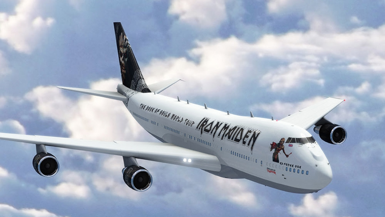 "Maiden to Tour in new ""Ed Force One"""