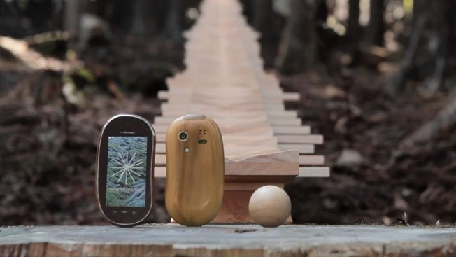 Giant Xylophone in Japanese Forest....