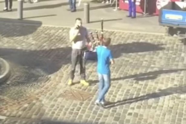 Boy takes down hate preacher in the most Scottish way possible...