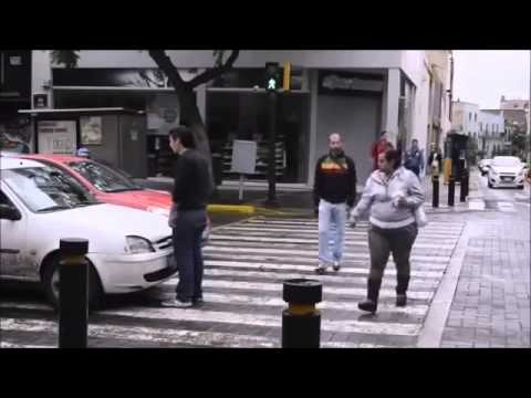 Car Stops On Crosswalk, Pedestrian Takes Action, Only In Russia.......
