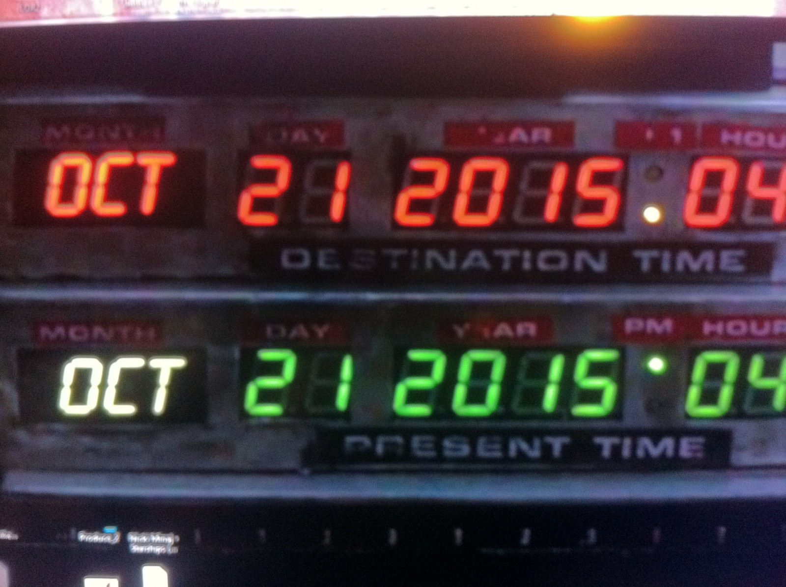 Back to the Future 2.... October 21st, 2015...4:29 PM....