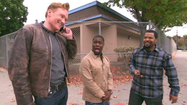 Conan, Kevin Hart, and Ice Cube in a car? Why not? (VIDEO)