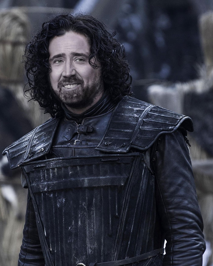 12 examples of how Nick Cage could play every character in Game of Thrones.