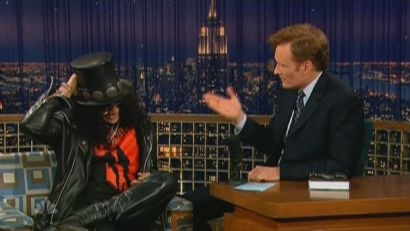 Conan O Brien takes Slash Guitar Shopping