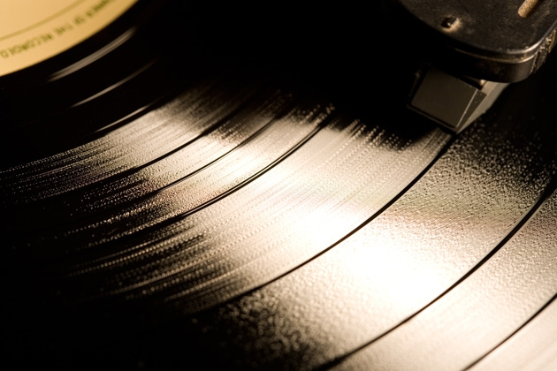 First vinyl record played in space