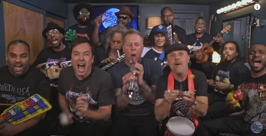 "Jimmy Fallon, Metallica & The Roots Sing ""Enter Sandman"" (Classroom Instruments)"