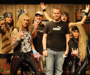 Steel Panther Buzz Session Listener Photos