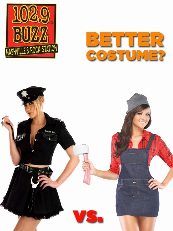 Better Costume? Cop vs. Lumberjack