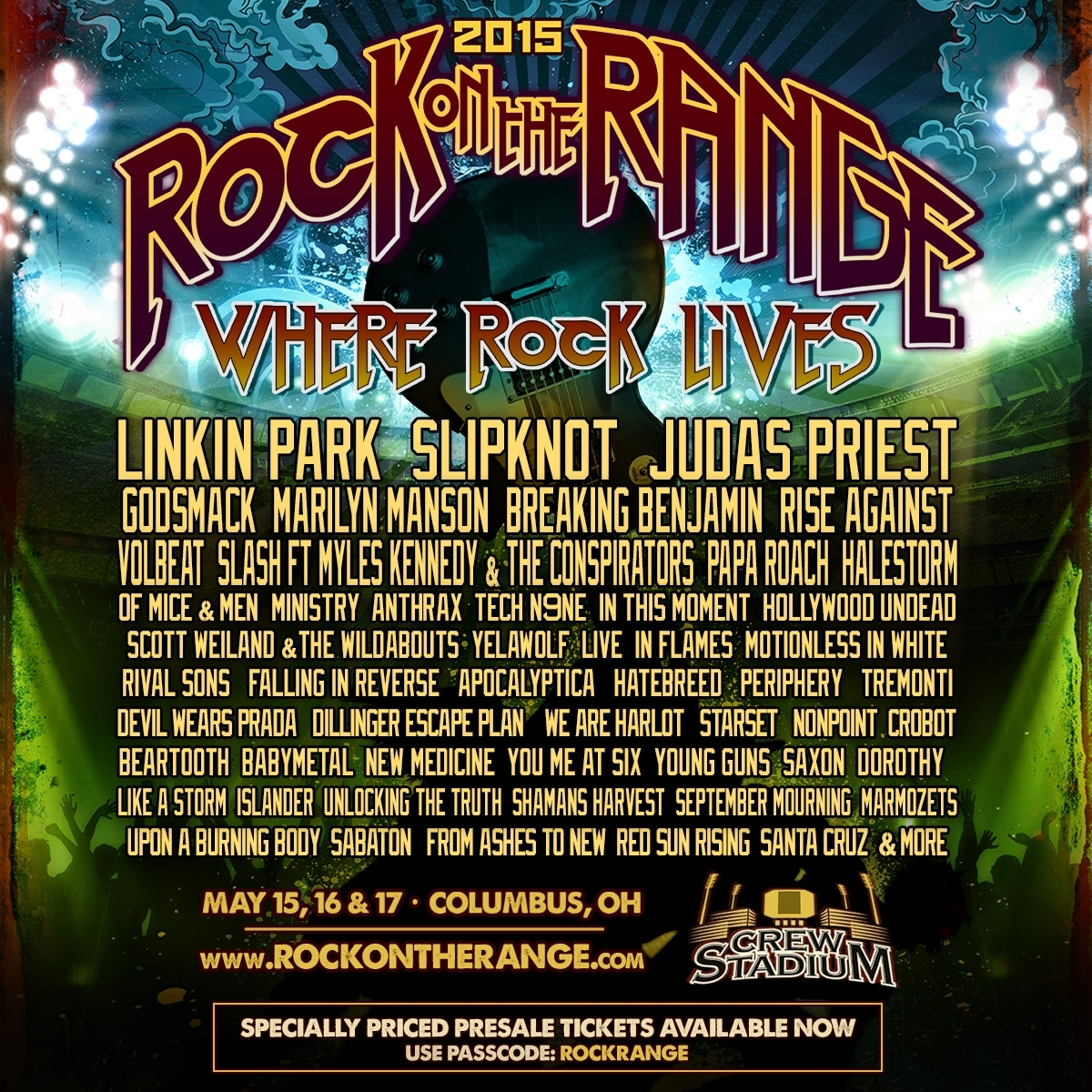 Rock on the Range 2015:  Pre-Sale