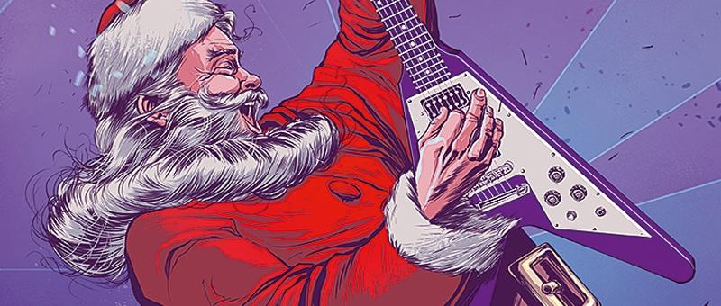 "Disturbed and Slipknot ""Rock"" a Christmas Light Display"