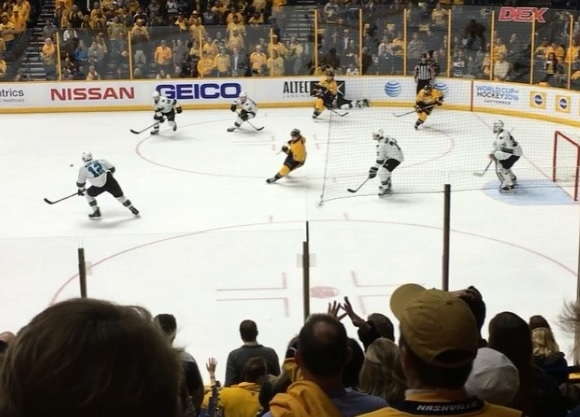 VIDEO: Retired Titan Michael Roos records Mike Fisher's dramatic goal in 3rd OT