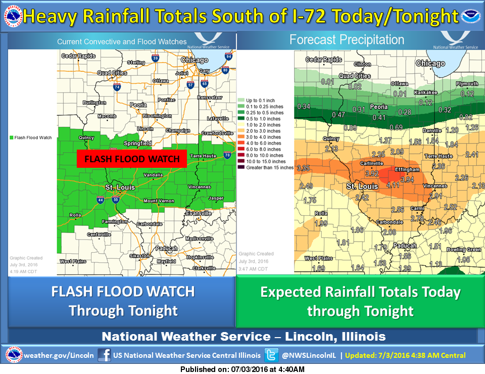 Hazardous Weather Outlook Sunday for Much of Central IL