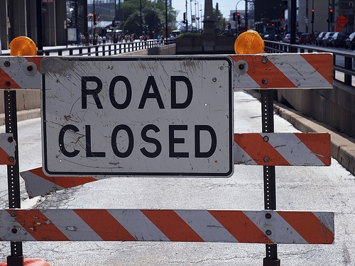 A Section of Lost Bridge Road Closed Tomorrow