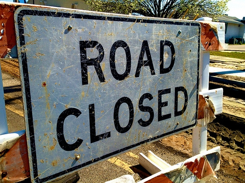 A Section of Woodland Drive in Mt. Zion is Closed