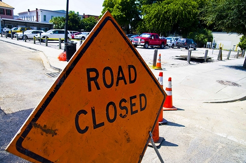 A Section of E. Grove Rd. Closed this Week