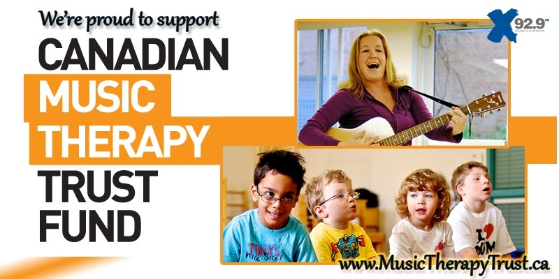 X92.9 proudly supports Music Therapy Trust Fund