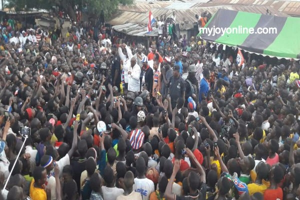 NDC's 'World Bank' tumbling as thousands turned out at my rallies - Akufo-Addo