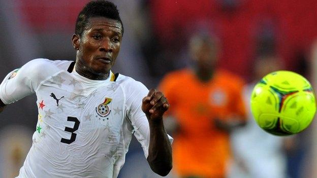 Injured Gyan visits Black Stars ahead of Egypt game