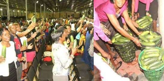 Pastor makes cool cash from sales of anointed cucumber