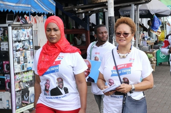 NPP Goes Nationwide With Adopt A Polling Station Blitz Samira, Mac Manu and others on the streets