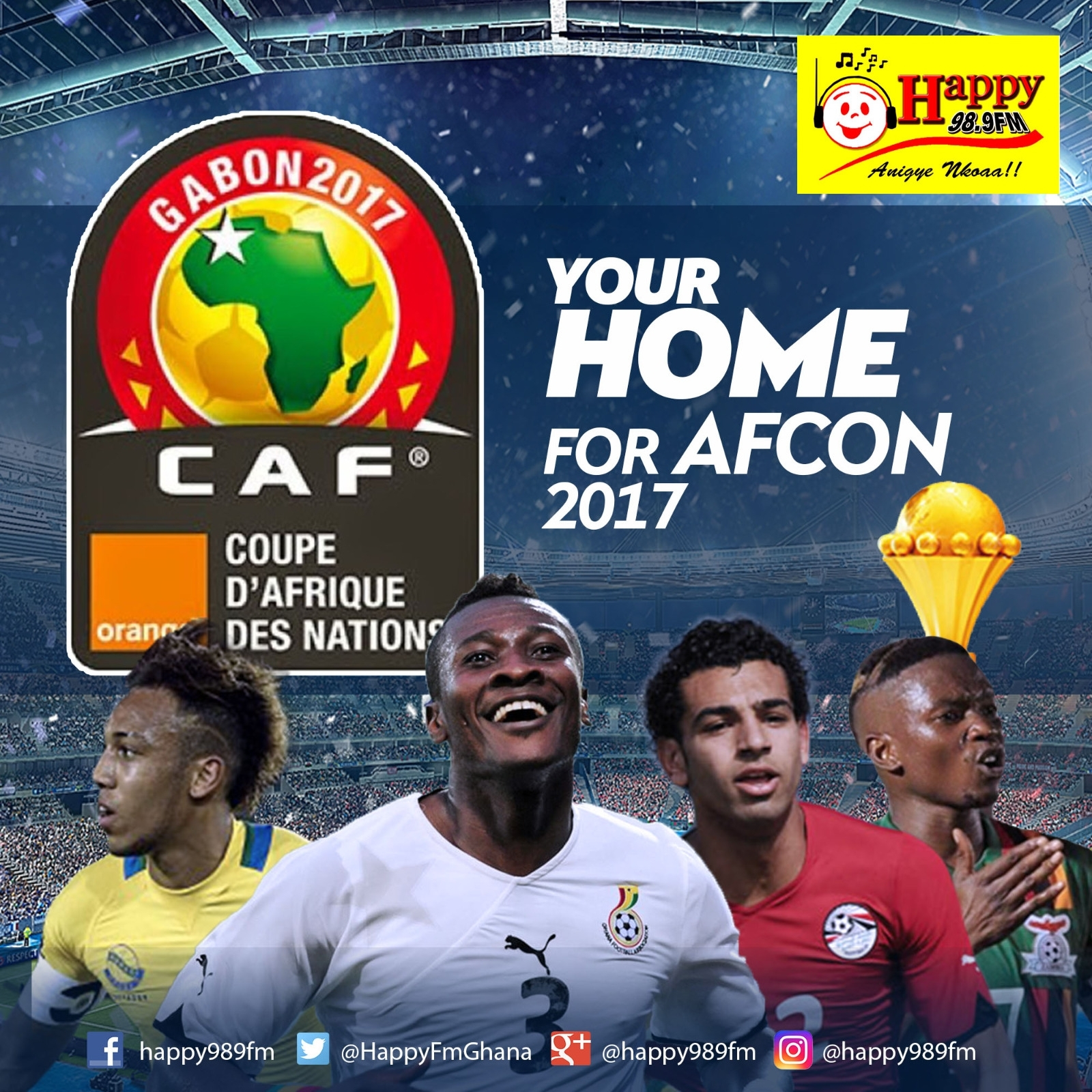 HAPPY FM TO SHOW LIVE FIXTURES OF AFCON 2017