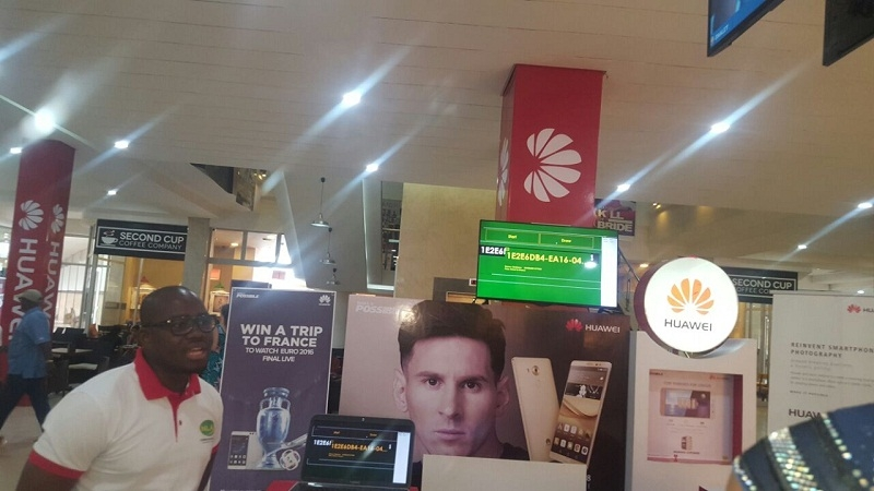 Second draw of the Huawei P9 Promo held at Accra Mall