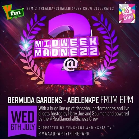 YFM's Midweek 'Madnezz' Dancehall Show Celebrates 2nd Anniversary On 6th July