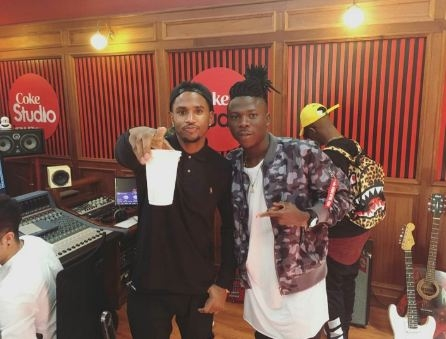 Stonebwoy recording new music with Trey Songz