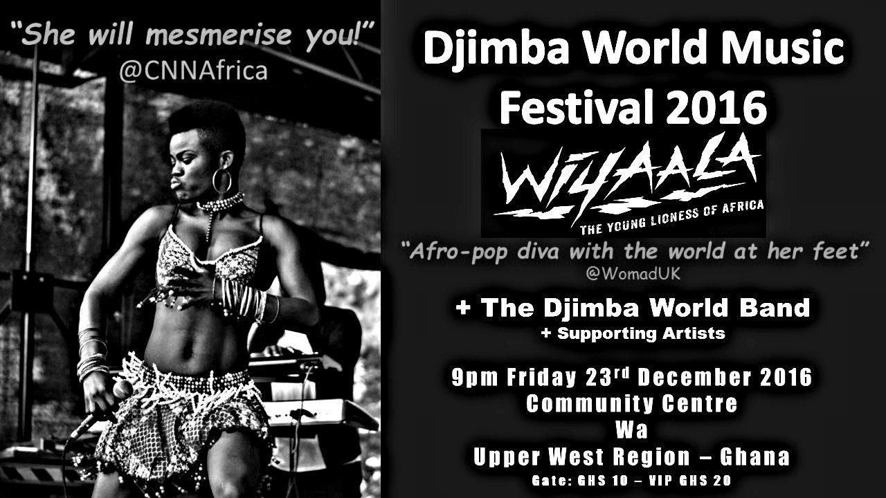 Wiyaala set to host Djimba World Music Festival in Wa on December 23