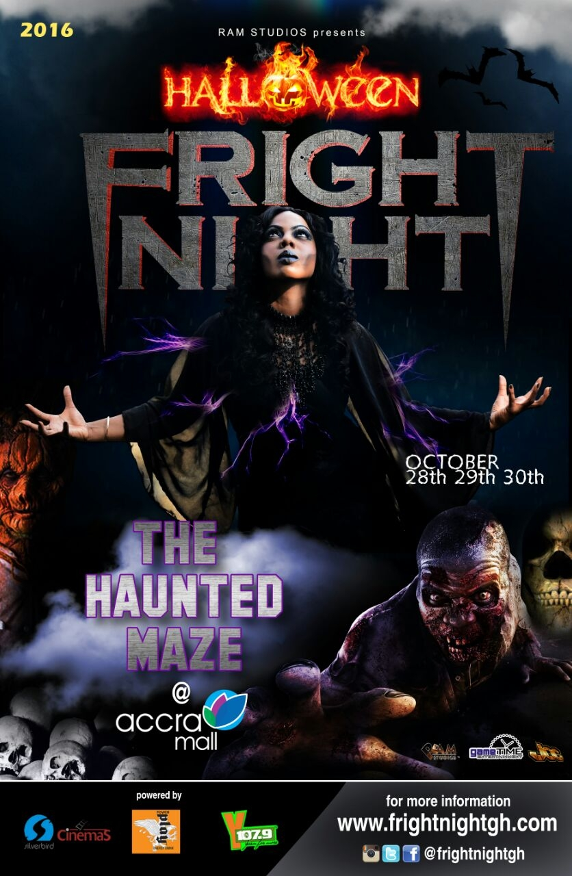Ms Naa, Vision DJ & Official Kwame experience #FrightNightGH ON AIR!