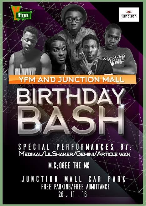 YFM/Junction Mall to celebrate Birthday with HUGE Musical Concert