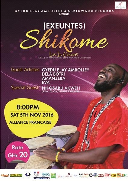 Alliance Française Accra presents  SHIKOME LIVE IN CONCERT