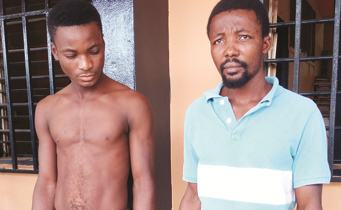 Two masons arrested for allegedly robbing pastor