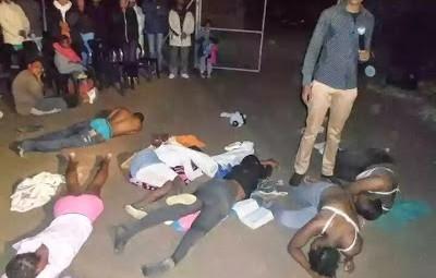 SHOCKING PICS: Pastor makes congregation strip