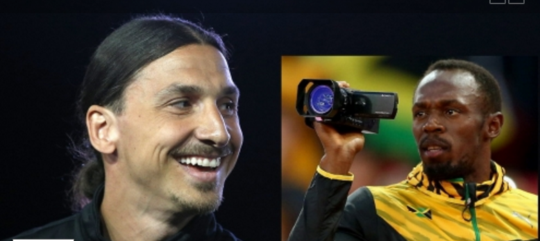 Usain Bolt tells Zlatan 'I'll be watching you'