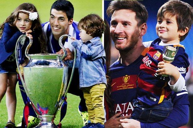 Lionel Messi, Luis Suarez and Gerard Pique's kids begin careers at Barcelona football school - aged THREE