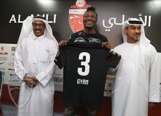 Gyan Not Guaranteed Starting Berth Against ex-club Al Ain