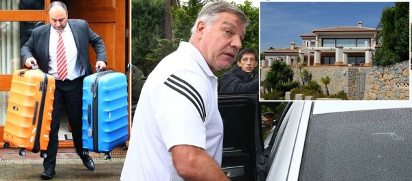 Sacked Sam Allardyce Packs his Bags and Heads to Spain After 'Silly' Gaffe