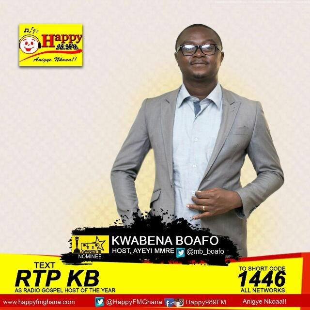 Kwabena Boafo of Happy FM Wins Gospel Show Host of the Year