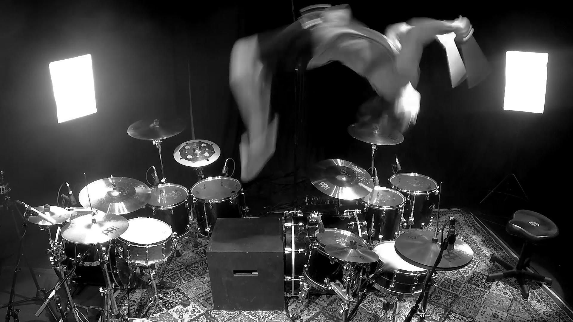 Drummer Casually Back Flips During Solo
