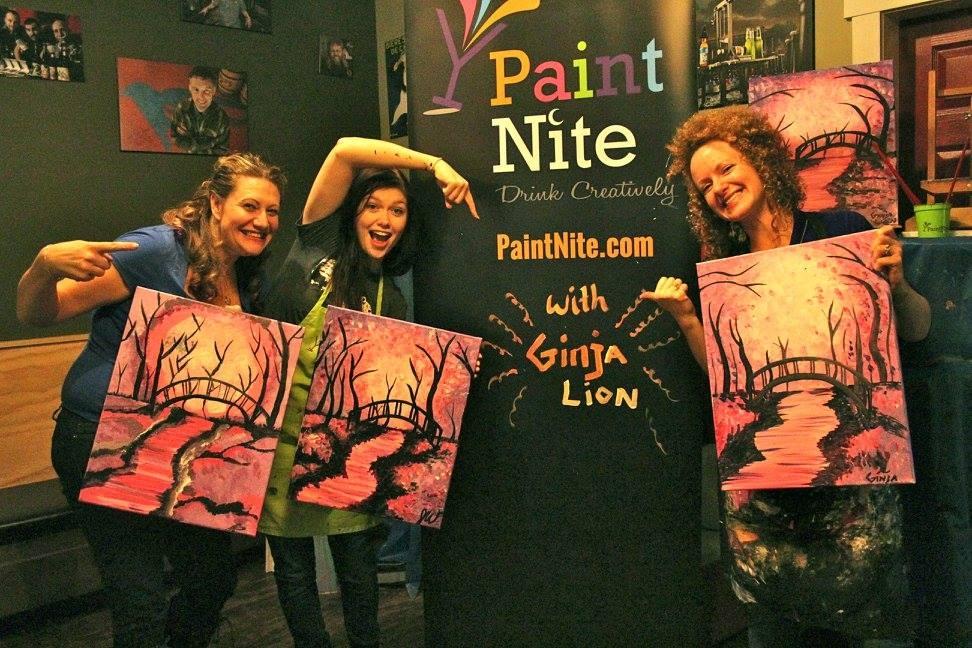 Paint Nite - How to Feel like (a tipsy) Bob Ross
