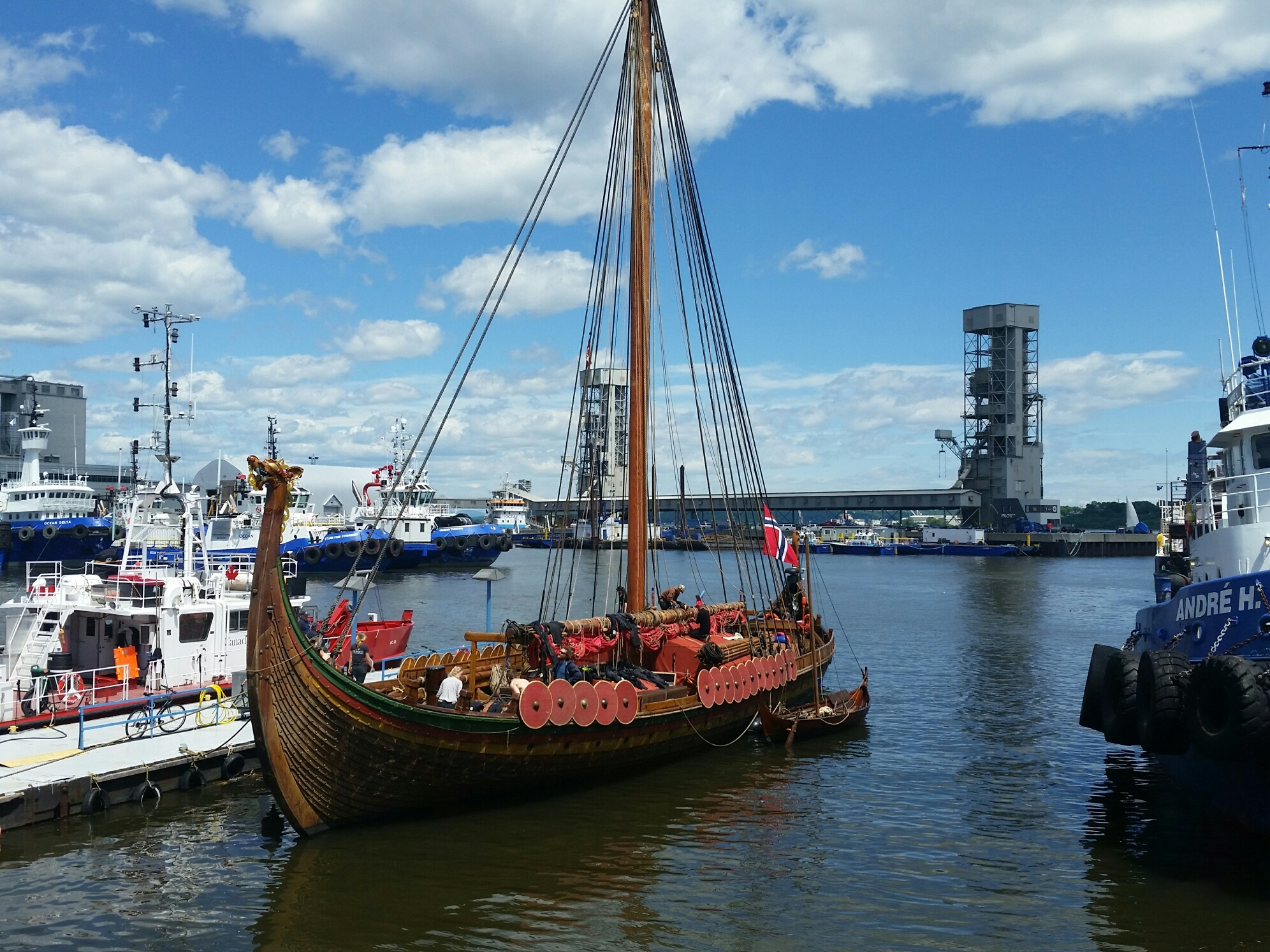 Zoner James Howard is sailing on a Viking boat from Norway!