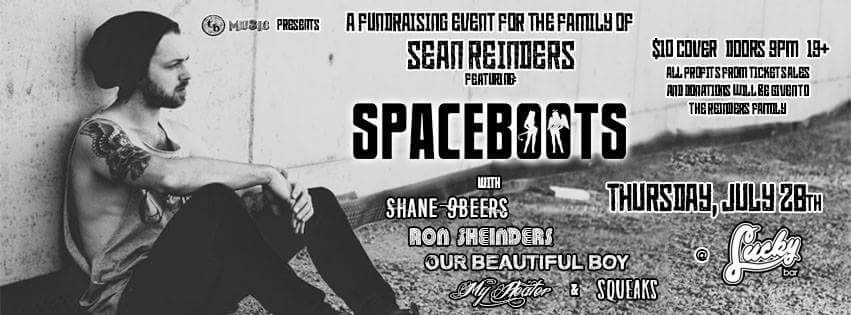 Spaceboots Fundraising event for the family of Sean Reinders