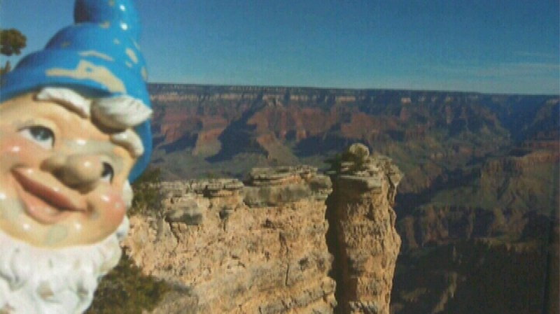 Victoria Woman's stolen gnome is returned with photo proof of epic adventure!